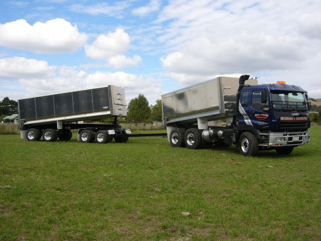 Truck and trailer use for drainage services Hamilton