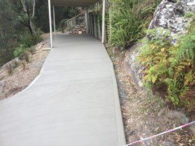 garden path with new concrete