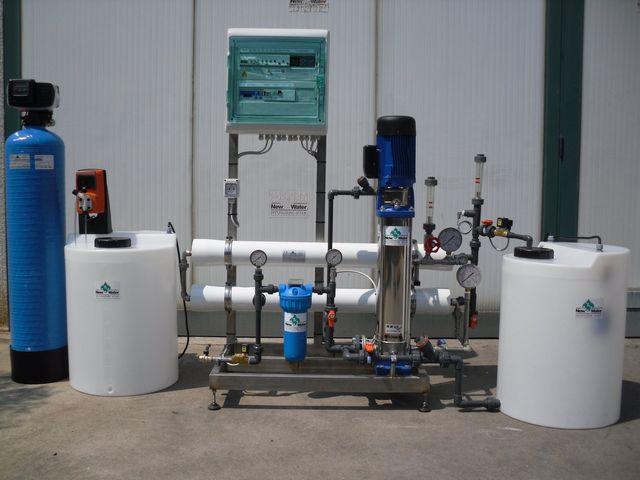 un impianto idrico ad osmosi New Water