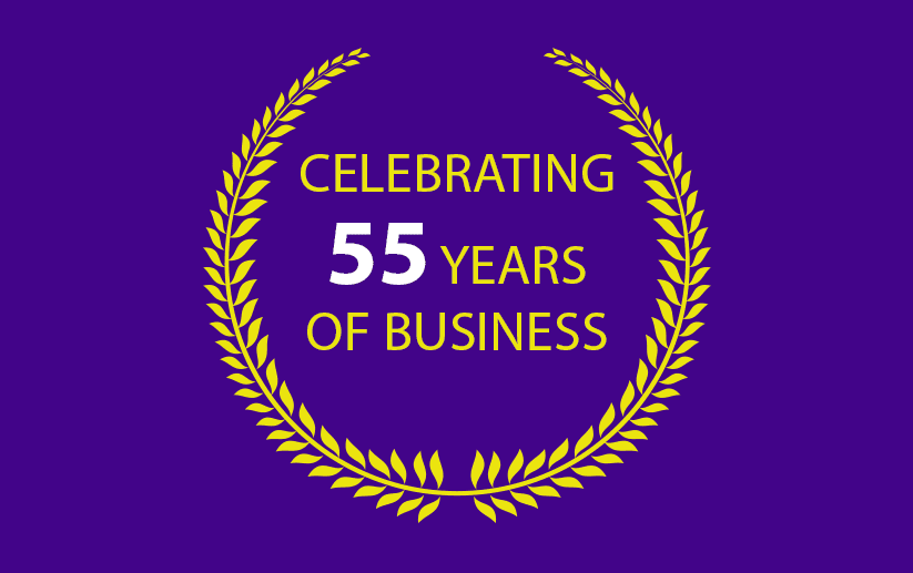Celebrating 55 years of business icon