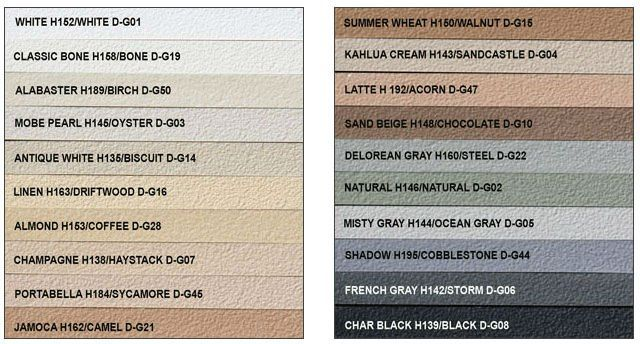 TruColor Pre-Mixed Grout variety