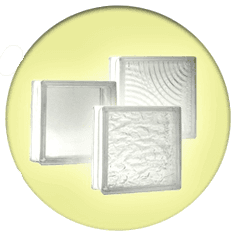 Glass block tiles