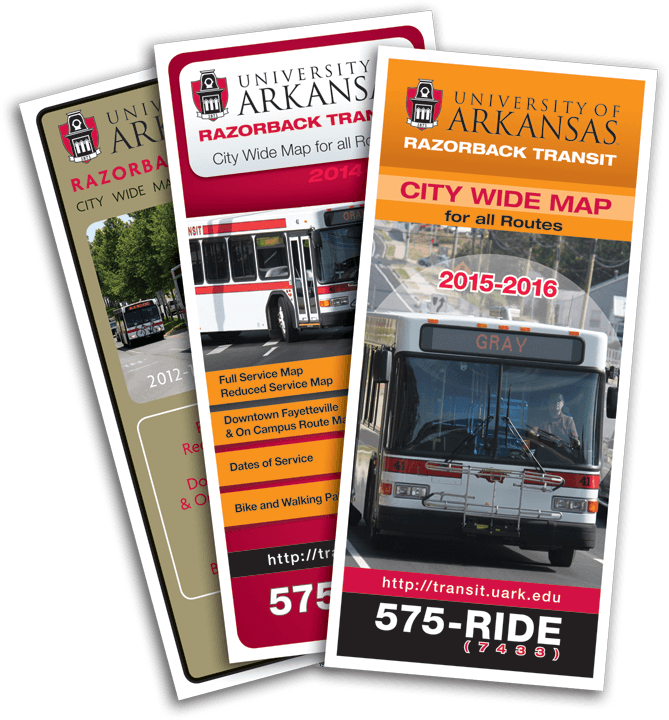 U of A transit brochure marketing