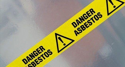 DANGEROUS ASBESTOS warning sign