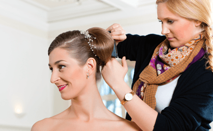 bridal hairdressing
