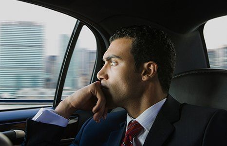 businessman in cab