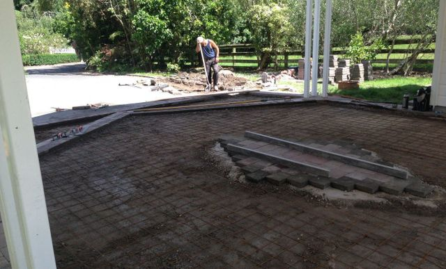 Driveway pre-concrete