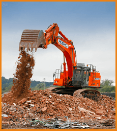 Plant Hire - Worcester, Gloucestershire - White Plant Hire - Digger 1