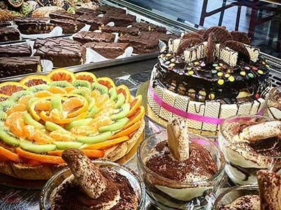 Torte di cioccolato e torte di frutti