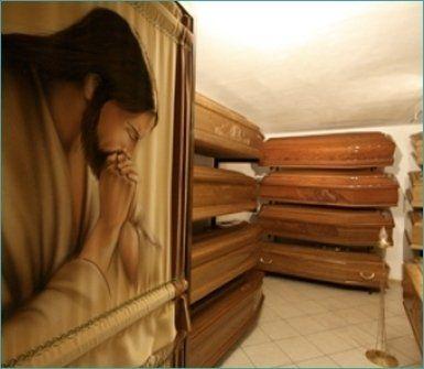 casse da morto in legno