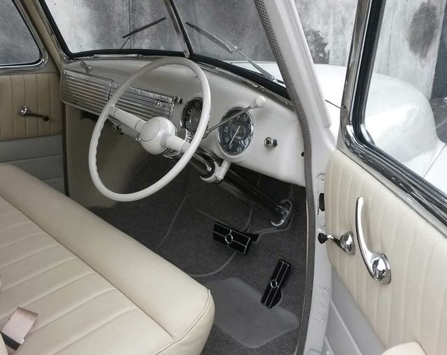interior white old fashion car