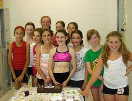 Group of girls enjoying the birthday party