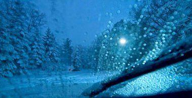 winter windshield image