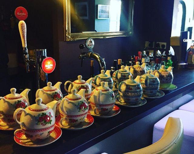 Friends enjoy a cup of tea in our café