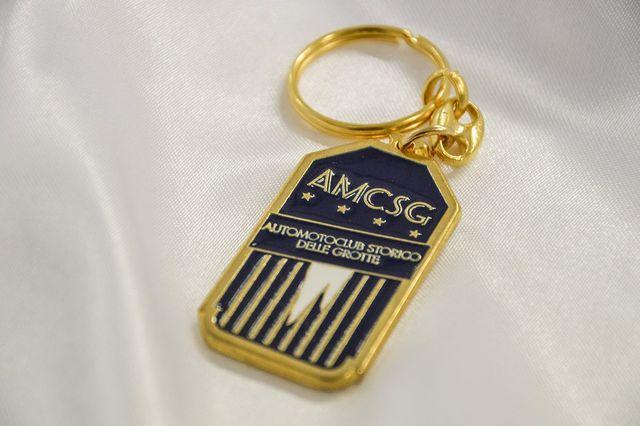 Portachiavi a medaglietta targati Automotoclub Storico delle Grotte