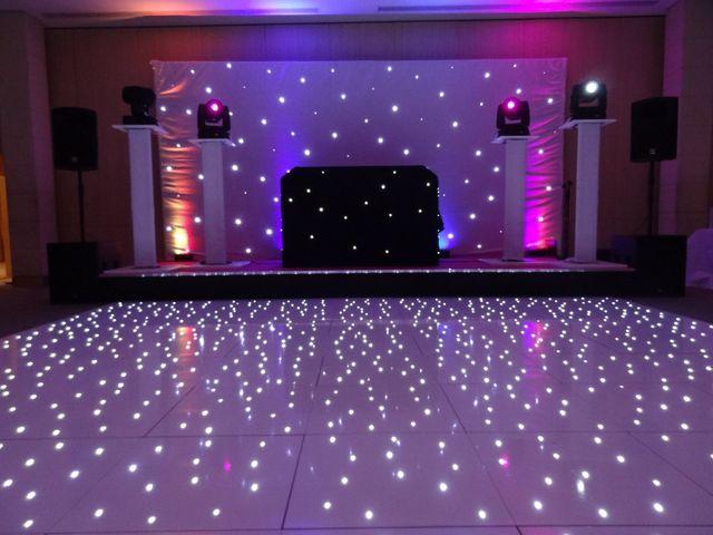 LEd lights dance floor
