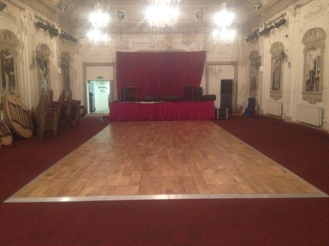 Wooden effect dance floor
