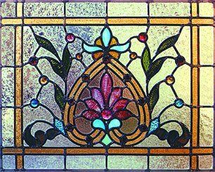 a decorative stained glass window