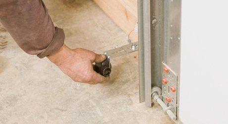 taking measurements for garage door