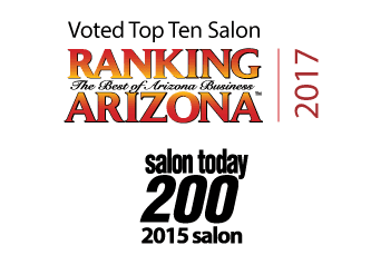 Ranking Arizona top ten salon for 2017. Salon Today 200 salon.
