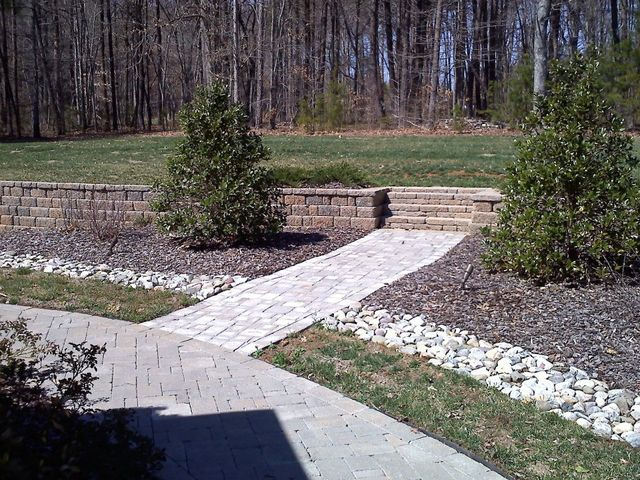 Bridge maintained by landscaping services in Asheboro, NC