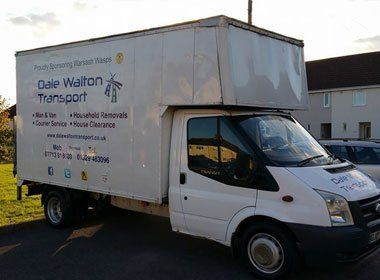 Parked Dale Walton Transport company van