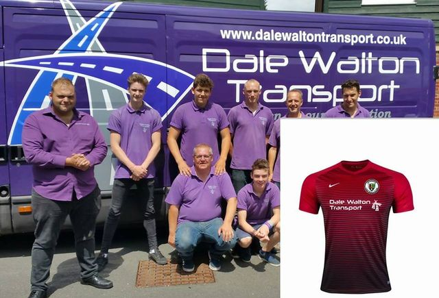 Dale Walton Transport team wearing purple tshirts