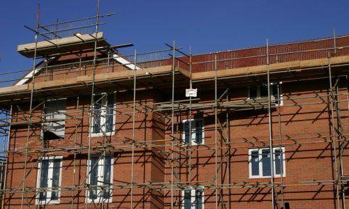Impalcature fino al tetto