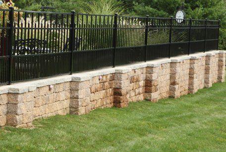 aluminum fence around a yard