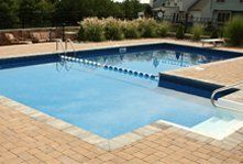 A fiberglass pool we installed near Langhorne, PA