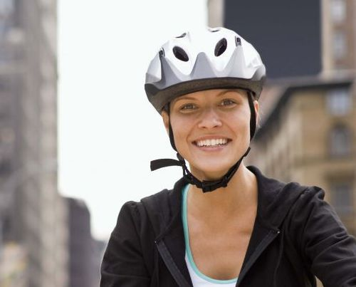 Happy customer leaving Otago bike shop