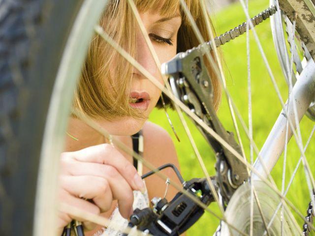 Bike repairs at Otago bike shop