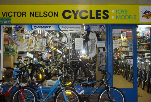Victor Nelson cycle shop in Otago