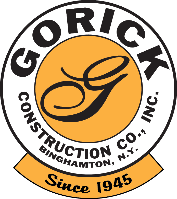 Round Logo Since 1945 - Gorick Construction Co. Inc. in Binghamton, New York