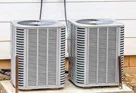Two newly installed HVAC units