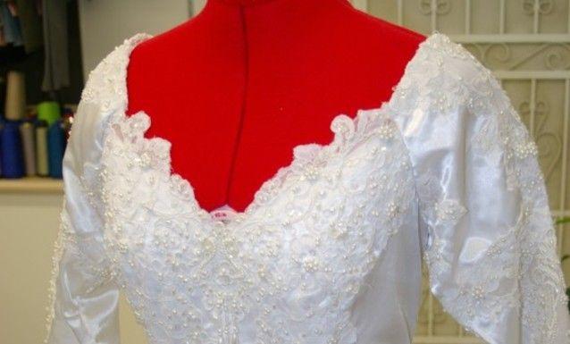 Wedding dresses designed at the shop