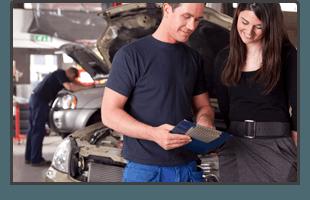 mechanic and a customer