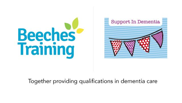 logos of beeches training and support in dementia