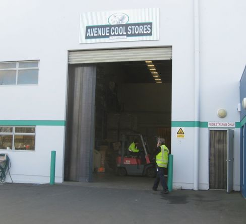 Our commercial refrigeration storage area in Christchurch