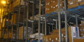 Pallets of boxes for refrigerated storage in Christchurch