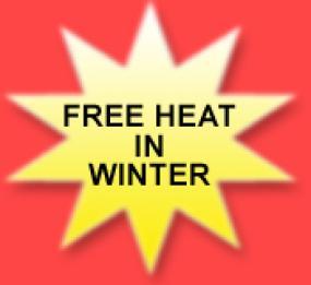 Free heat in winter banner