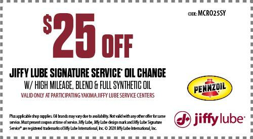 Jiffy Lube High Mileage Oil Change Coupon