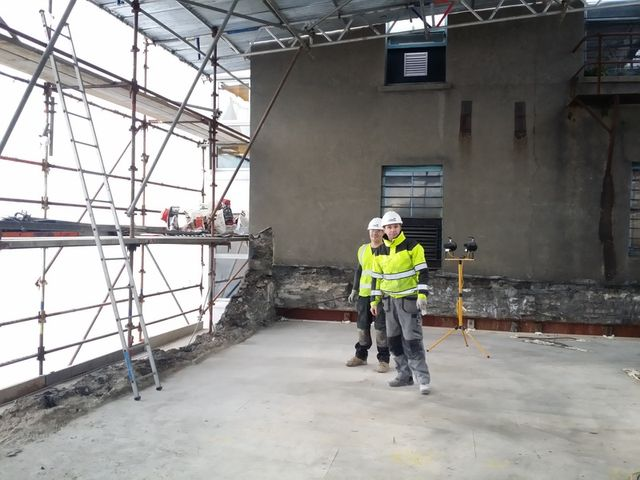 Our team performing building work in the Isle of Man