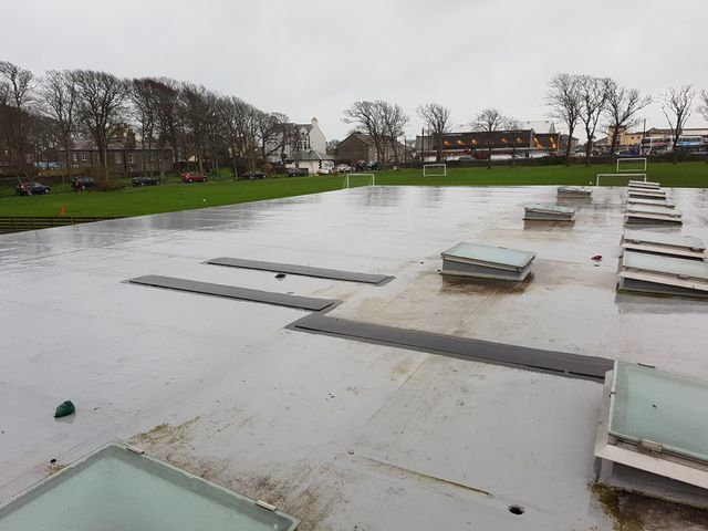 image of project on school roof