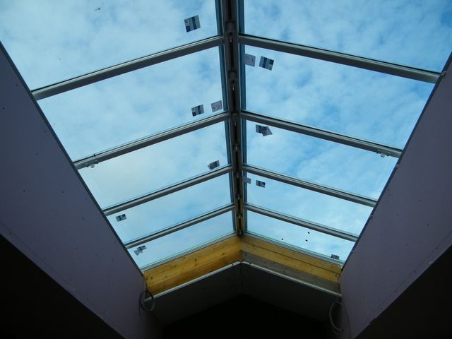Beautiful skylight window as an example of our services