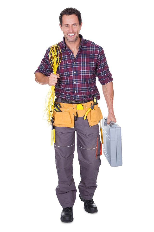 One of the electricians available for hire in Canberra
