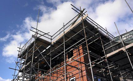 A scaffolding project on a housing project