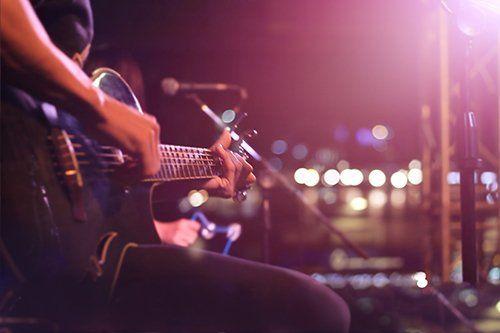 chitarrista in esibizione