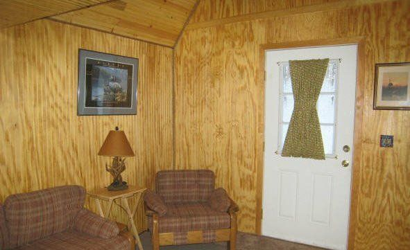 interior of a cabin from Alaskan Barns cabin construction in Anchorage AK