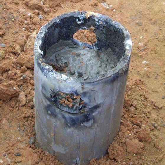 a large cement pillar